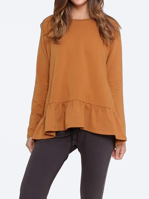 Yeltuor - FOR TWENTYONE - Tops - LEONI FRILL HEM SWEATER -  -