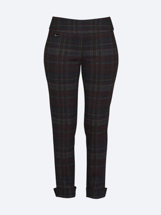 Yeltuor - LISETTE - Pants - LISETTE IBIZA PLAID ANKLE WITH CUFF -  -