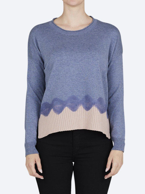 Yeltuor - LOOBIES STORY - Knitwear - LOOBIE'S STORY PICASSO SWEATER - DENIM / ROSEWOOD -  8