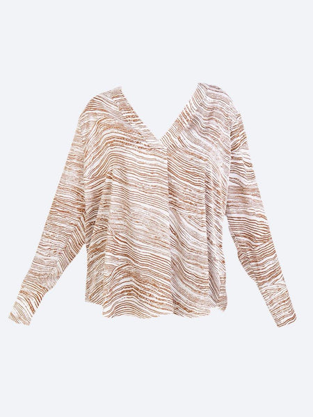 Yeltuor - MELA PURDIE - Tops - MELA PURDIE WHISKEY CHEVRON TOP -  -