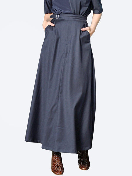 Yeltuor - M.A DAINTY - Skirts - M.A DAINTY WOOL BLEND BUMPER MAXI SKIRT -  -