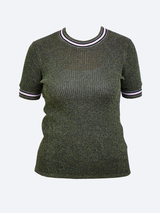 Yeltuor - MAISON SCOTCH - Knitwear - MAISON SCOTCH SHORT SLEEVE LUREX KNIT -  -