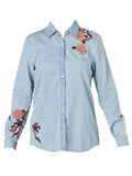 Yeltuor - MAISON SCOTCH - SHIRTS - MAISON SCOTCH BANDIT EMBROIDERED SHIRT -  -