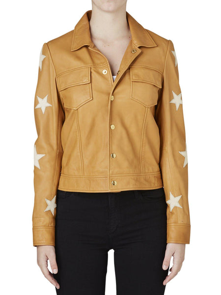 Yeltuor - MAISON SCOTCH - Jackets & Coats - MAISON SCOTCH LEATHER STAR JACKET -  -
