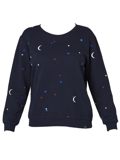Yeltuor - MAISON SCOTCH - Knitwear - MAISON SCOTCH CREW NECK NIGHT TIME SWEATER -  -