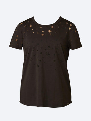 Yeltuor - MAISON SCOTCH - Tops - MAISON SCOTCH BURNOUT STAR TEE -  -