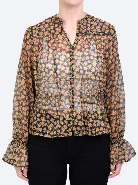 Yeltuor - MAISON SCOTCH - SHIRTS - MAISON SCOTCH SHEER PRINT BLOUSE -  -