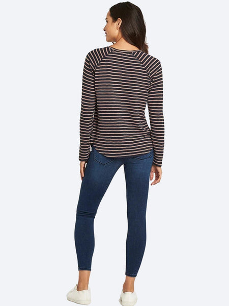 Yeltuor - MAVI JEANS - Tops - MAVI LAURA L/S TOP IN MIDNIGHT STRIPE -  -