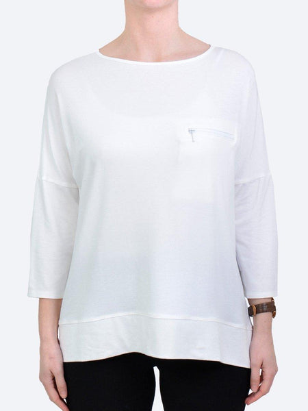 Yeltuor - MELA PURDIE - Tops - MELA PURDIE ZIP POCKET SWEATER - WHITE -  8