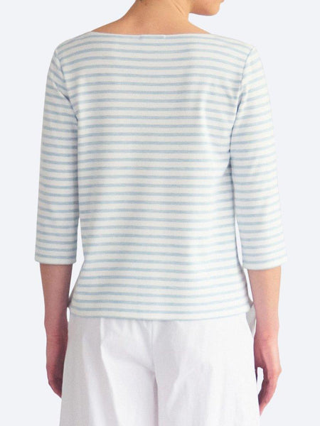Yeltuor - MELA PURDIE - Tops - MELA PURDIE STRIPE RELAXED BOAT NECK - COMPACT KNIT -  -