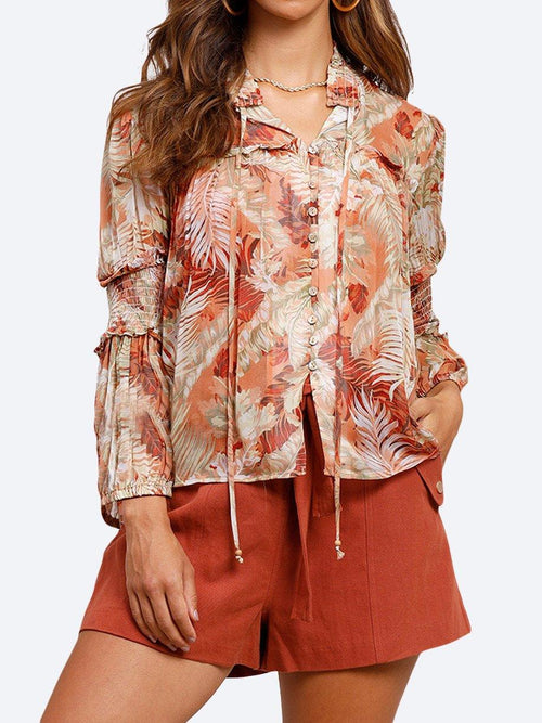 Yeltuor - MINISTRY OF STYLE - Tops - MINISTRY OF STYLE CABANA RESORT BLOUSE -  -