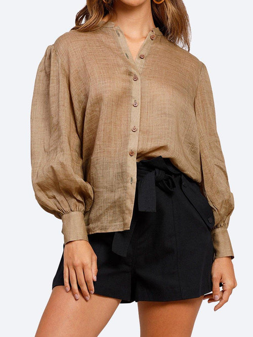 Yeltuor - MINISTRY OF STYLE - Tops - MINISTRY OF STYLE STAYCATION BLOUSE - OLIVE -  6