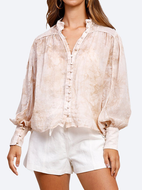 Yeltuor - MINISTRY OF STYLE - Tops - MINISTRY OF STYLE HIGH TIDE BLOUSE - STONE BEIGE -  6