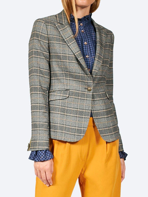 Yeltuor - MOS MOSH - Jackets & Coats - MOS MOSH EMBROIDERED CHECK BLAZER -  -