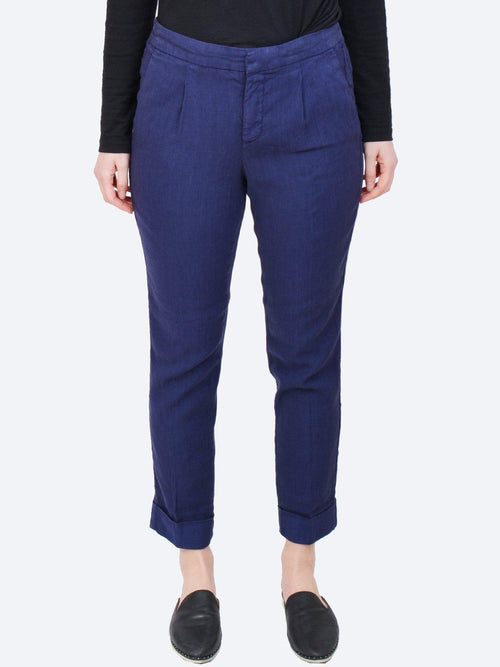 Yeltuor - NYDJ - Pants - NYDJ EVERYDAY LINEN COTTON PANT - PEACOCK -  0US