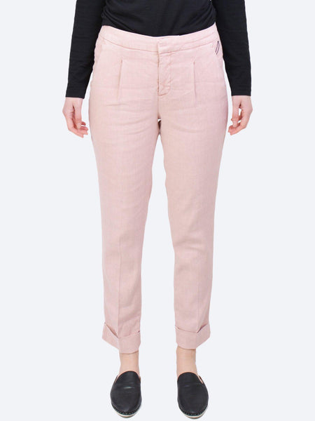 Yeltuor - NYDJ - Pants - NYDJ EVERYDAY LINEN COTTON PANT - ROSE -  0US