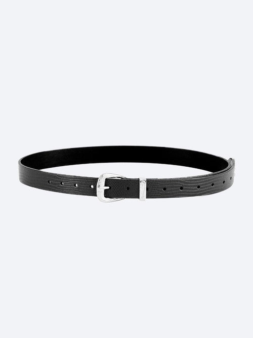 Yeltuor - NAKEDVICE - Accessories & Shoes - NAKEDVICE THE FREIDA LEATHER BELT - BLACK SILVER -  ALL