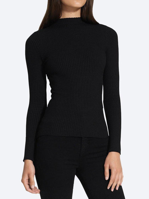 NOBODY LUXE RIB FUNNEL NECK LONG SLEEVE