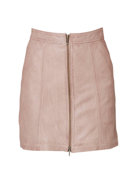 Yeltuor - ONCE WAS - Skirts - ONCE WAS MAHAL WASHED LEATHER SKIRT -  -