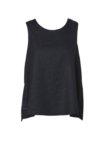Yeltuor - PING PONG - Tops - PING PONG BUTTON BACK TANK - BLACK -  8