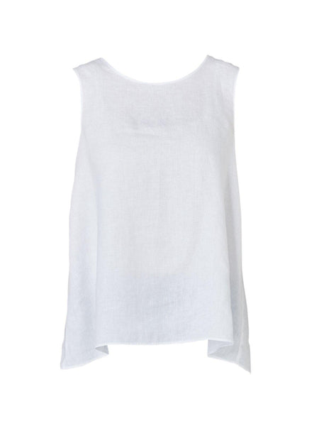 Yeltuor - PING PONG - Tops - PING PONG BUTTON BACK TANK - WHITE -  8