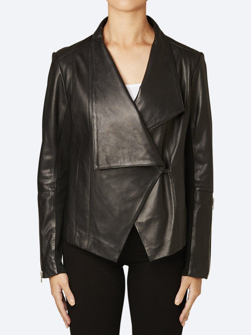 Yeltuor - PING PONG - Jackets & Coats - PING PONG LEATHER JACKET -  -