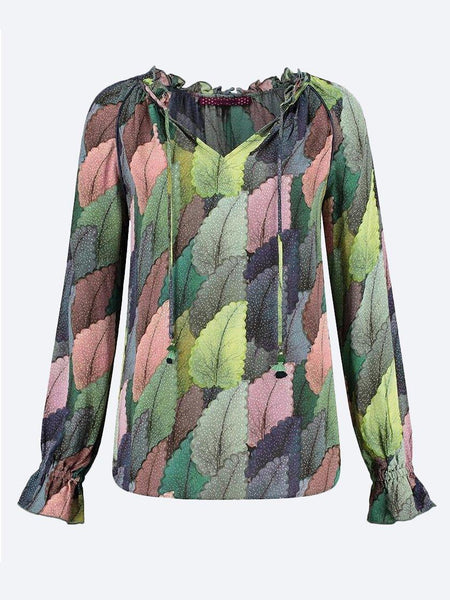 Yeltuor - POM - Tops - POM DREAMY LEAVES BLOUSE -  -