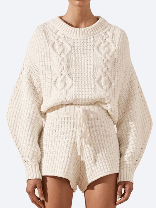 SHONA JOY WILLOW COCOON SLEEVE CABLE KNIT