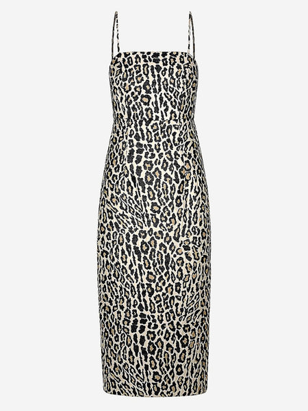 SHONA JOY JOAN ONE SHOULDER MIDI DRESS