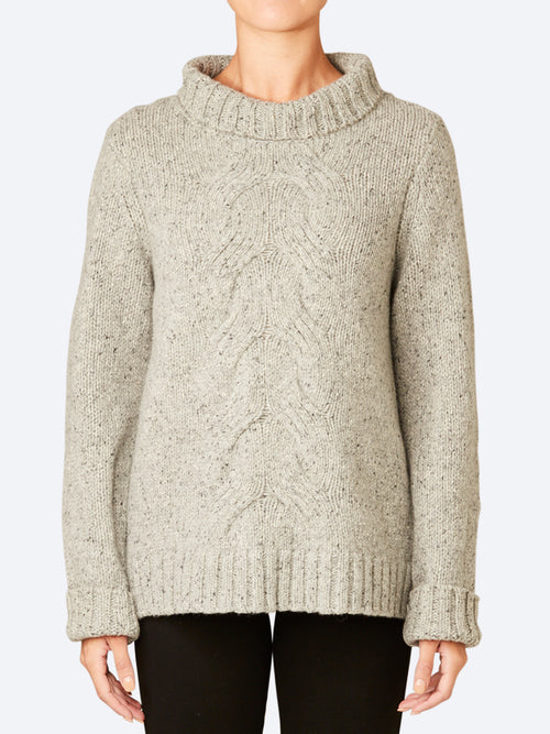 Yeltuor - SKIN & THREADS - Knitwear - SKIN & THREADS WOOL BLEND CABLE TURTLE NECK -  -
