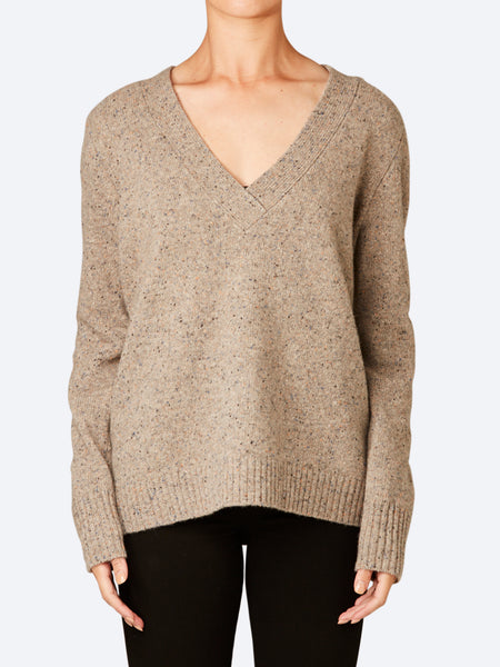 SKIN & THREADS WOOL BLEND CABLE TURTLE NECK