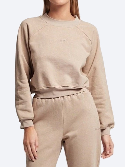 Yeltuor - SOFIA - Tops - SOFIA COTTON SWEAT - LATTE -  8