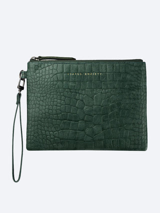 Yeltuor - STATUS ANXIETY - WALLETS - STATUS ANXIETY FIXATION CLUTCH - TEAL CROC -  ALL
