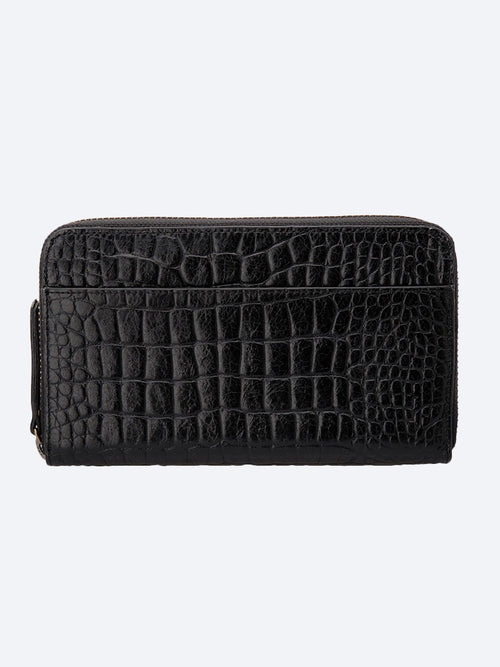 Yeltuor - STATUS ANXIETY - WALLETS - STATUS ANXIETY DELILAH WALLET - BLACK CROC -  ALL