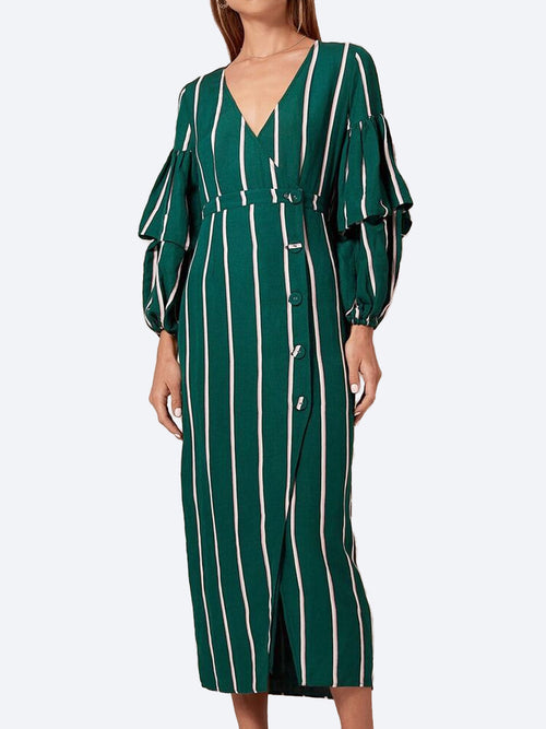 Yeltuor - STEELE - Dresses - STEELE MEYER MIDI STRIPE DRESS -  -