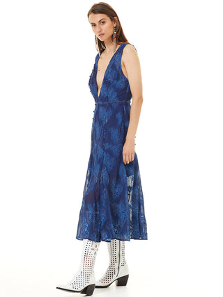 Yeltuor - STEVIE MAY - Dresses - STEVIE MAY INK PALM MIDI DRESS -  -