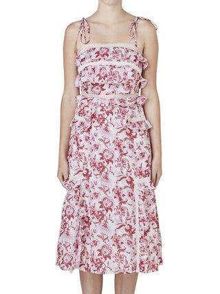 STEVIE MAY BRITISH INDIA TIE MIDI DRESS