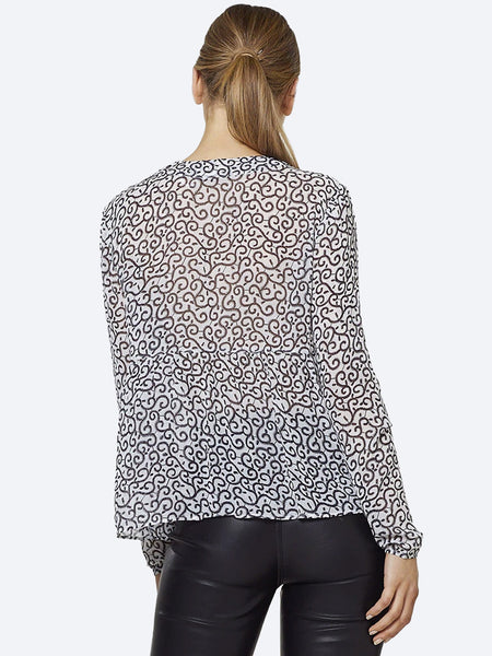 Yeltuor - STEVIE MAY - Tops - STEVIE MAY SHIMMA SWIRL TOP -  -