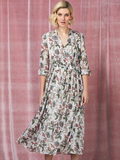 Yeltuor - SUNCOO - Dresses - SUNCOO COCO PRINTED MIDI DRESS -  -