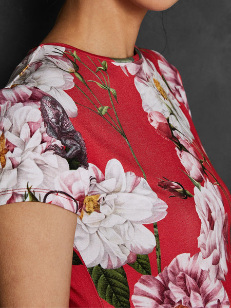 ccaad6d41 ... Yeltuor - TED BAKER - Tops - TED BAKER DALEZA IGUAZU FITTED TEE - -