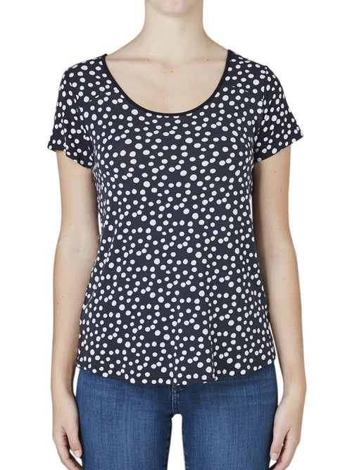 Yeltuor - TANI - Tops - TANI DOTTY RESORT TEE -  -