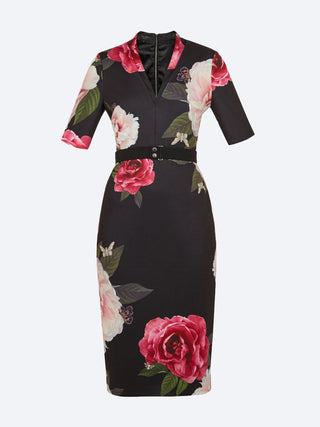 2f39ae01580326 Yeltuor - TED BAKER - Dresses - TED BAKER GILANNO MIDI DRESS - -