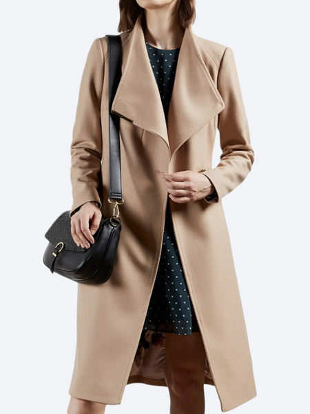 Yeltuor - TED BAKER - Jackets & Coats - TED BAKER ROSE LONG COAT - CAMEL -  1