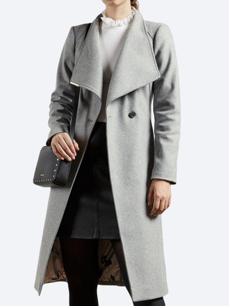 Yeltuor - TED BAKER - Jackets & Coats - TED BAKER ROSE LONG COAT - GREY -  1