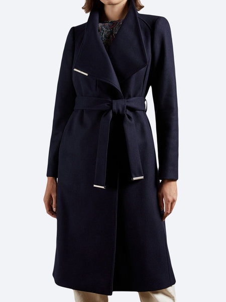 Yeltuor - TED BAKER - Jackets & Coats - TED BAKER ROSE LONG COAT - NAVY -  1