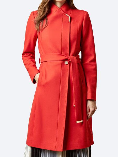 Yeltuor - TED BAKER - Jackets & Coats - TED BAKER ROSE LONG COAT - RED -  1
