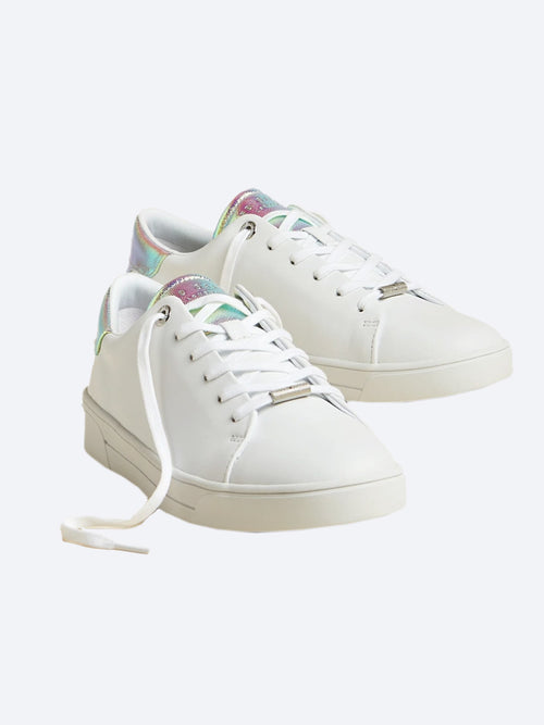 Yeltuor - TED BAKER - Accessories & Shoes - TED BAKER ZENNO LEATHER IRIDESCENT TRAINERS -  -