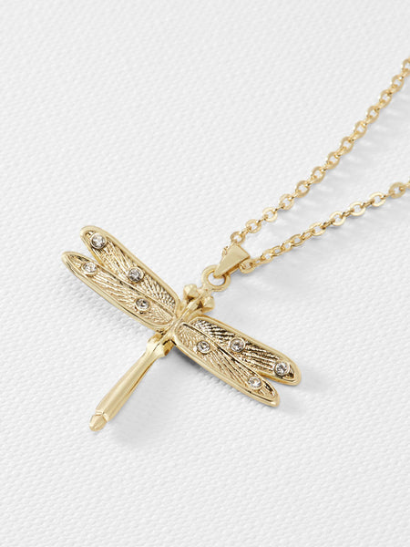 Yeltuor - TED BAKER - JEWELLERY - TED BAKER DELILAA DRAGONFLY SMALL PENDANT - GOLD -  ALL