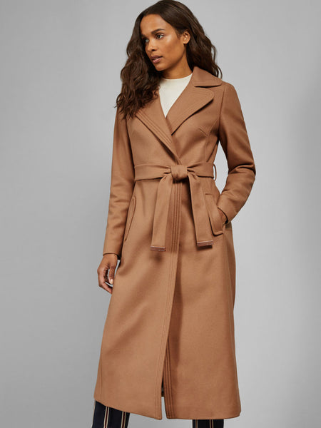 Yeltuor - TED BAKER - Jackets & Coats - TED BAKER GABELLA WIDE COLLAR LONG WOOL WRAP COAT -  -