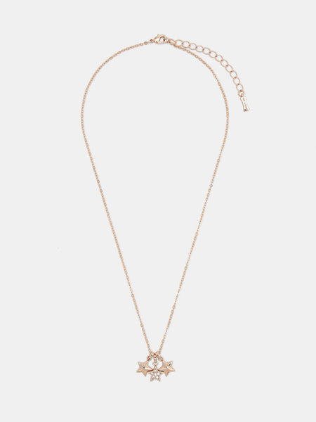 Yeltuor - TED BAKER - JEWELLERY - TED BAKER SHAMI TRIO STAR PENDANT - ROSE GOLD -  ALL